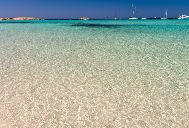 Ses Illetes Beach in Formentera, Spain