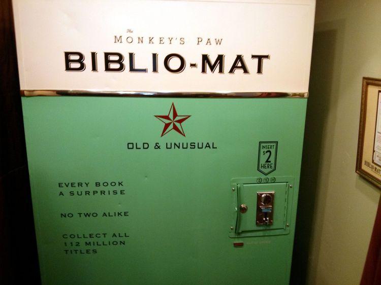 Bibliomat_2,_Monkey's_Paw_books,_Dundas_Street_W,_Toronto,_ON,_Canada_(8523297530)