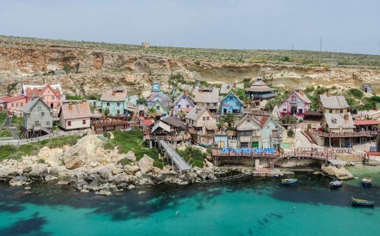 View of Popeye Village, Malta